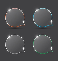 speech bubbles with spark vector image vector image