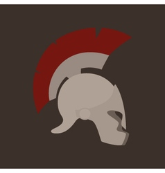Antiques greek helmet isolated vector