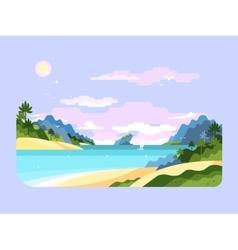Beach flat design vector image vector image