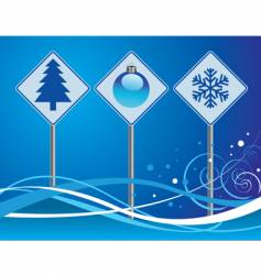 Christmas signs vector image vector image