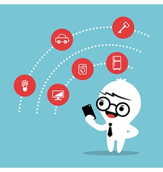 Internet of things concept cartoon vector image