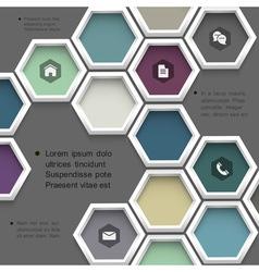 New design hexagons background for website vector image vector image