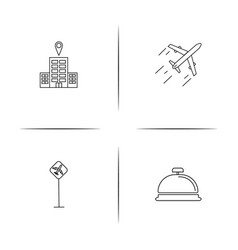 travel simple linear icon setsimple outline icons vector image vector image