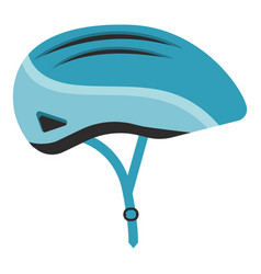 Blue bicycle helmet isolated on a white background vector