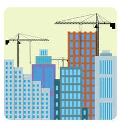 Buildings construction vector image vector image
