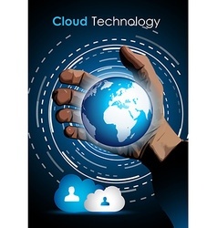 Cloud technology concept image to show data vector image vector image