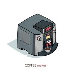 coffee machine isometric vector image vector image