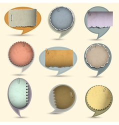 Old paper bubbles for speech vector image vector image