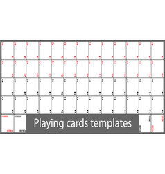 Playing cards template set vector image