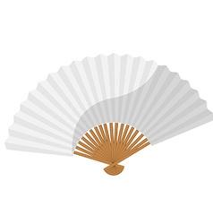 White folding fan vector image