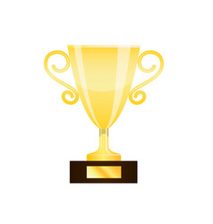 Winner gold trophy cup isolated on white vector
