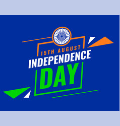 15 august indian independence day card design vector image