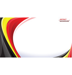 Abstract black yellow red background vector