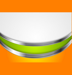 Abstract corporate background with metal waves vector