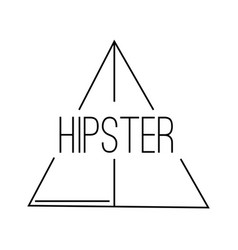 Abstract hipster label vector
