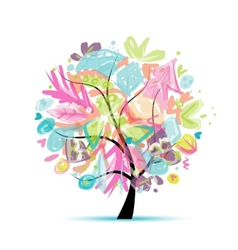 Abstract tree floral for your design vector image