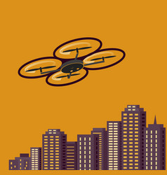 air drones photography cityscape sunset vector image