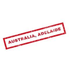 Australia adelaide rubber stamp vector