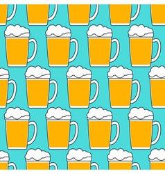 Beer mug pattern vector image