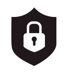 Black simple flat icon of internet web security vector
