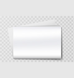 blank newspaper mockup isolated on background vector image