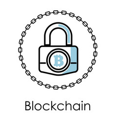blockchain technology isolated icon vector image