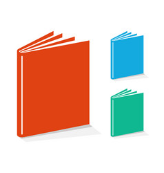 Book icons set vector