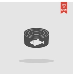 Cans - canned food concept vector