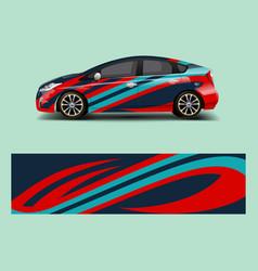 Car7racing car wrap abstract strip shapes vector