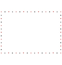 Card Suits Border Frame vector image