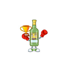 Cartoon sweet whiskey with character mascot boxing vector