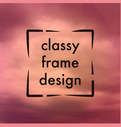 classy frame design vector image vector image