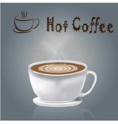 Coffee Cup hot Coffee gray background vector