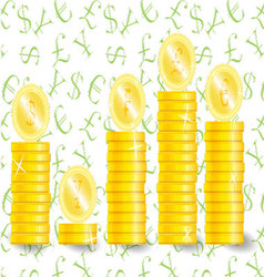 Coin stock value vector image