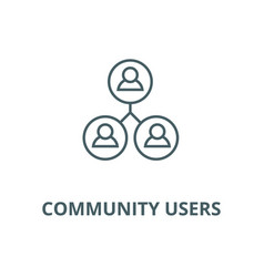 community users line icon community users vector image