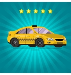 Detailed taxi service vector