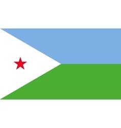 Djibouti flag image vector