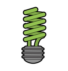 Energy saving lightbulb eco friendly related icon vector