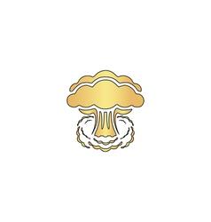 explosion computer symbol vector image