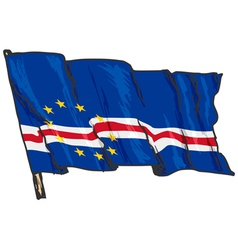 Flag of cape verde vector