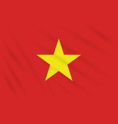 Flag vietnam swaying in wind realistic vector