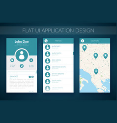 flat ui design concept vector image