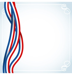 french ribbons flag vector image