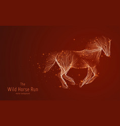 Galloping horse constructed vector