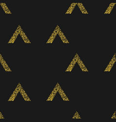 gold geometric triangle on black background vector image