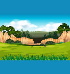 Green envrioment background scene vector