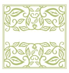 Green Floral Frame vector