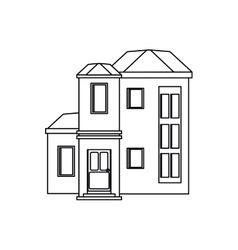 House urban expensive outline vector