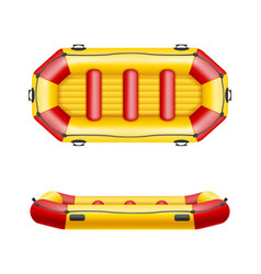 Inflatable rafting boat vector
