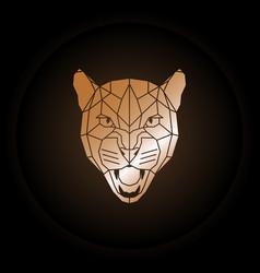 Logo puma head in polygonal style vector